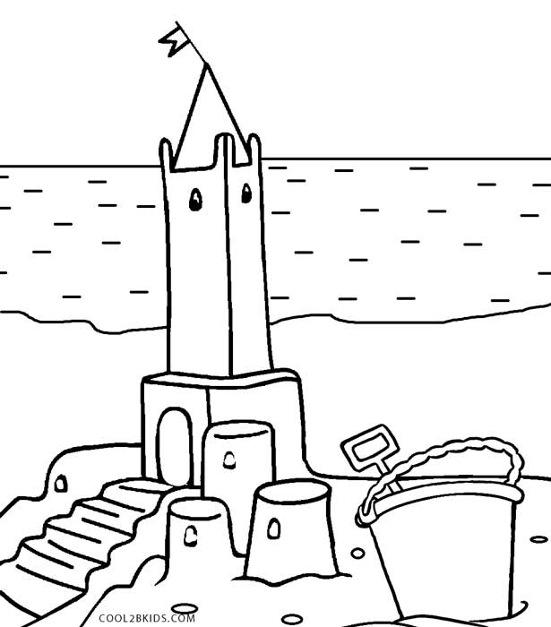 sandcastle coloring page ΠΑΙΔΙΚΑ ΧΑΜΟΓΕΛΑ Εικόνες καλοκαιρινές για ζωγραφική sandcastle page coloring