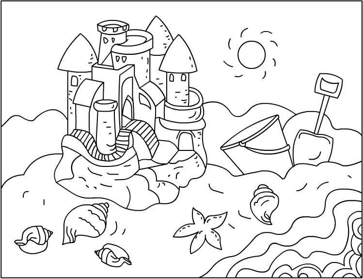 sandcastle coloring page nicole39s free coloring pages sandcastles coloring pages coloring page sandcastle