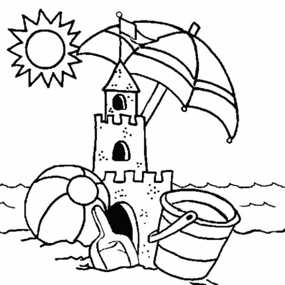 sandcastle coloring page relax with arts and crafts finals week tommy g39s coloring sandcastle page