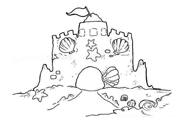 sandcastle coloring page sand castle coloring page free printable coloring pages sandcastle page coloring