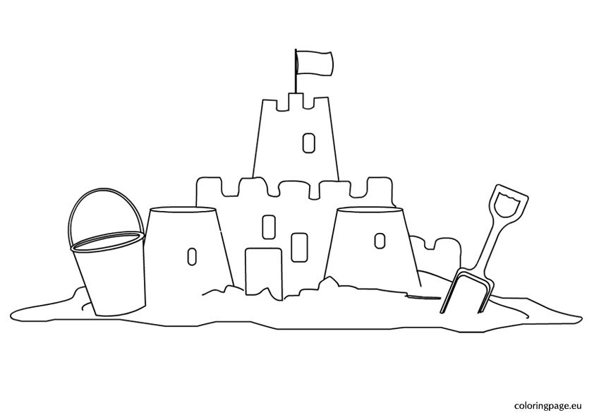 sandcastle coloring page sand castle drawing clipartsco coloring page sandcastle