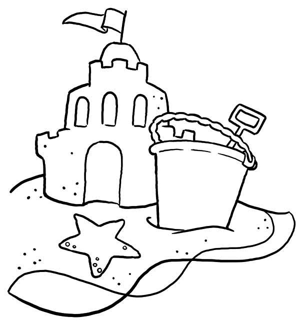 sandcastle coloring page sand castle with bucket and shovel coloring page sandcastle page coloring