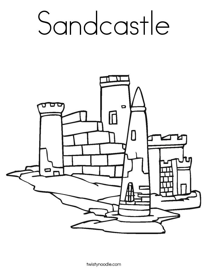 sandcastle coloring page sandcastle coloring pages sandcastle page coloring