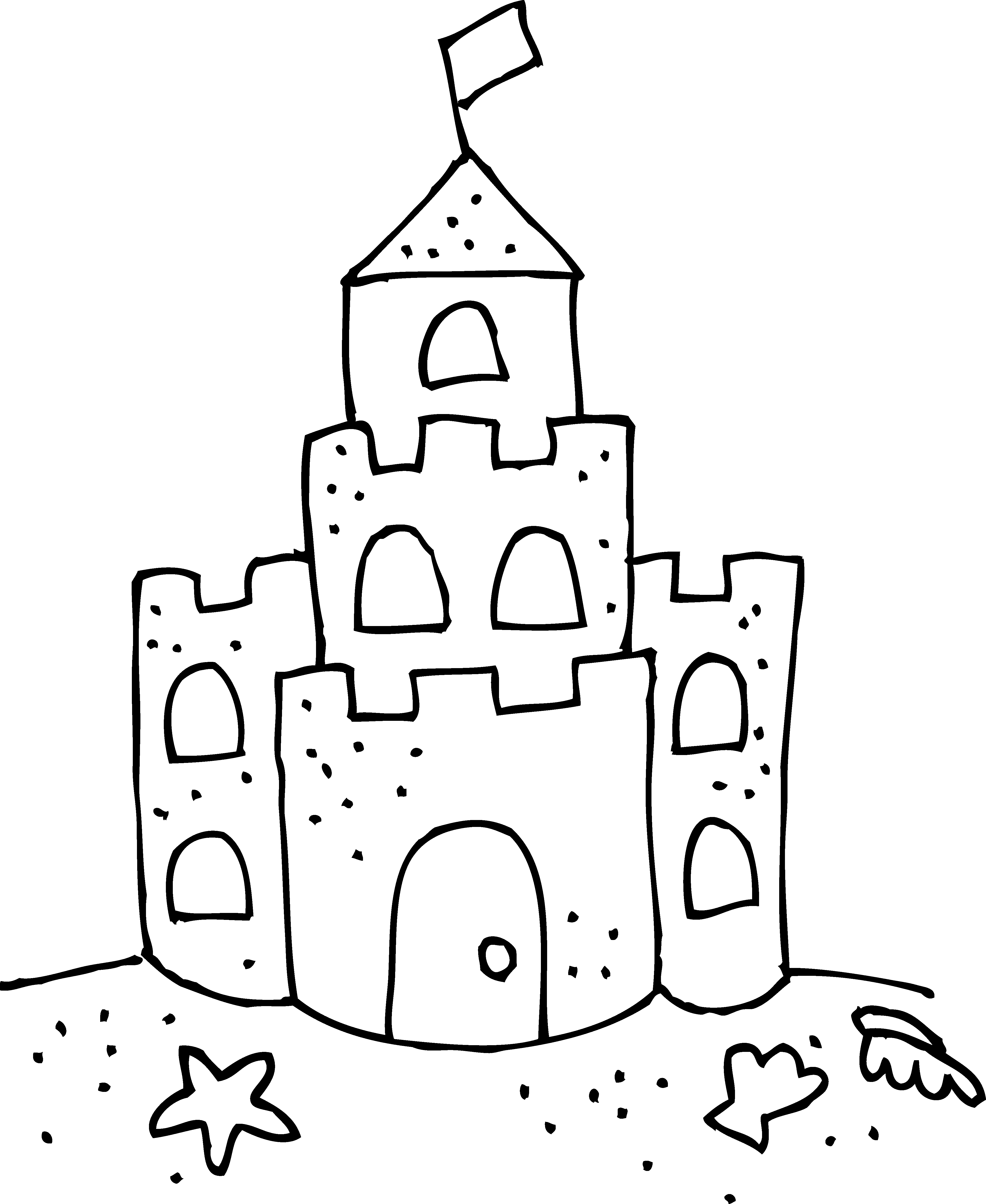 sandcastle coloring page seaside colouring pages sandcastle coloring page