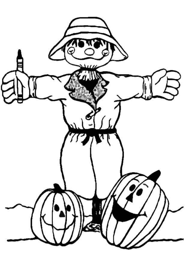 scarecrow coloring sheet cute scarecrow coloring pages getcoloringpagescom coloring sheet scarecrow