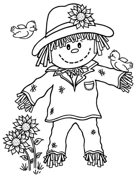 scarecrow coloring sheet scarecrow watching coloring page crayolacom coloring scarecrow sheet