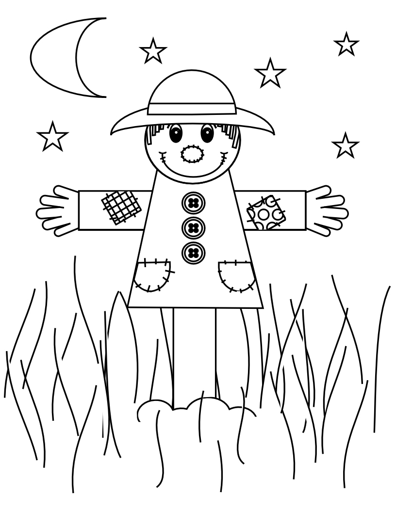 scarecrow coloring sheet smarty pants fun printables scarecrow coloring sheet