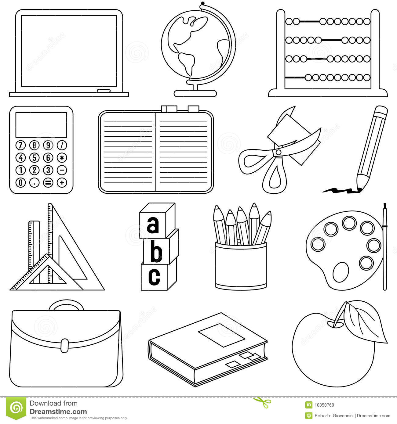 school objects coloring pages 1000 images about step by step vocabulary fun games on pages coloring school objects