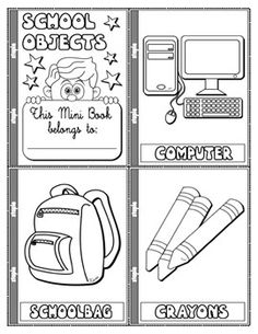 school objects coloring pages classroom object to coloring and cut esl worksheet by objects pages coloring school