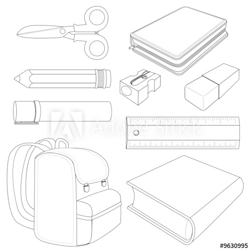 school objects coloring pages classroom objects coloring pages sketch coloring page objects coloring pages school