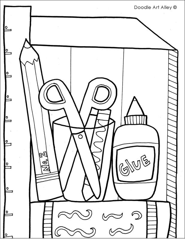 school objects coloring pages classroom objects coloring pages sketch coloring page pages objects coloring school