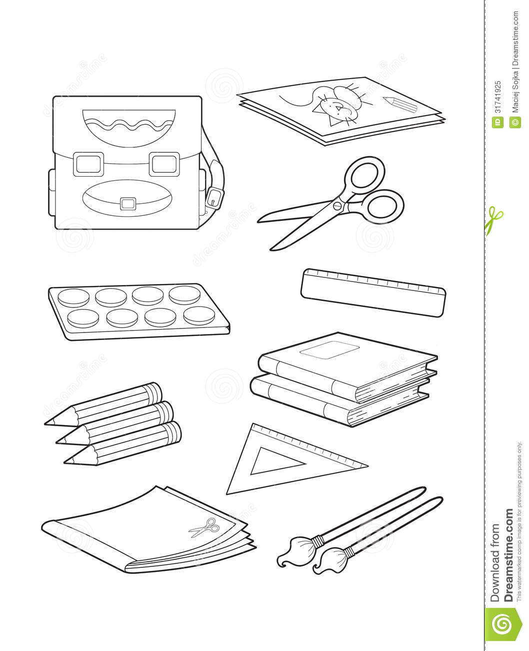 school objects coloring pages english lessons children june 2010 coloring school pages objects