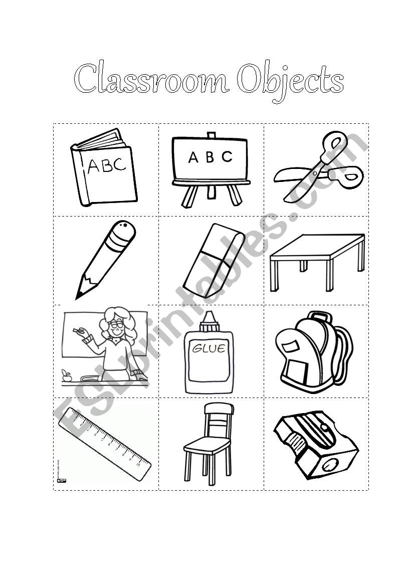 school objects coloring pages home gt classroom worksheets gt classroom objects colouring coloring objects pages school
