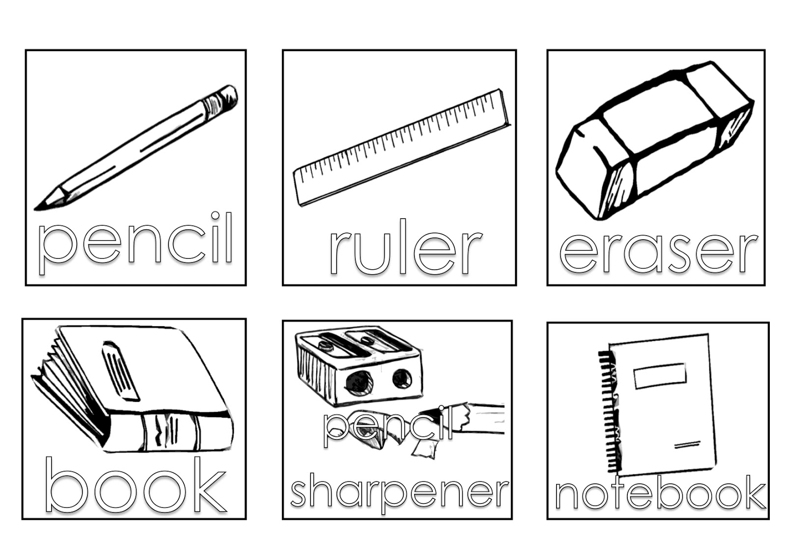 school objects coloring pages school equipment 4 objects printable coloring pages pages coloring school objects