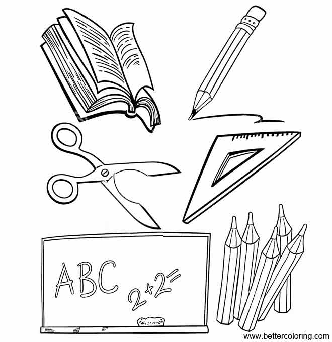 school objects coloring pages school supplies coloring pages school objects free objects school pages coloring