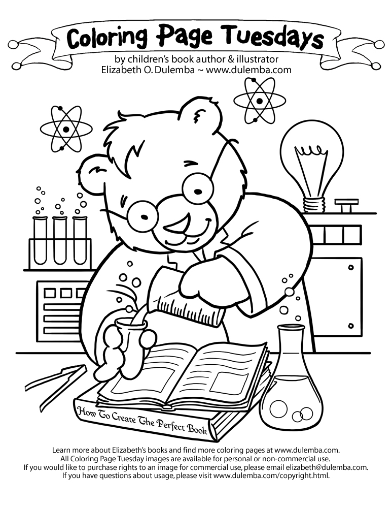 science coloring page dulemba coloring page tuesday science bear coloring science page