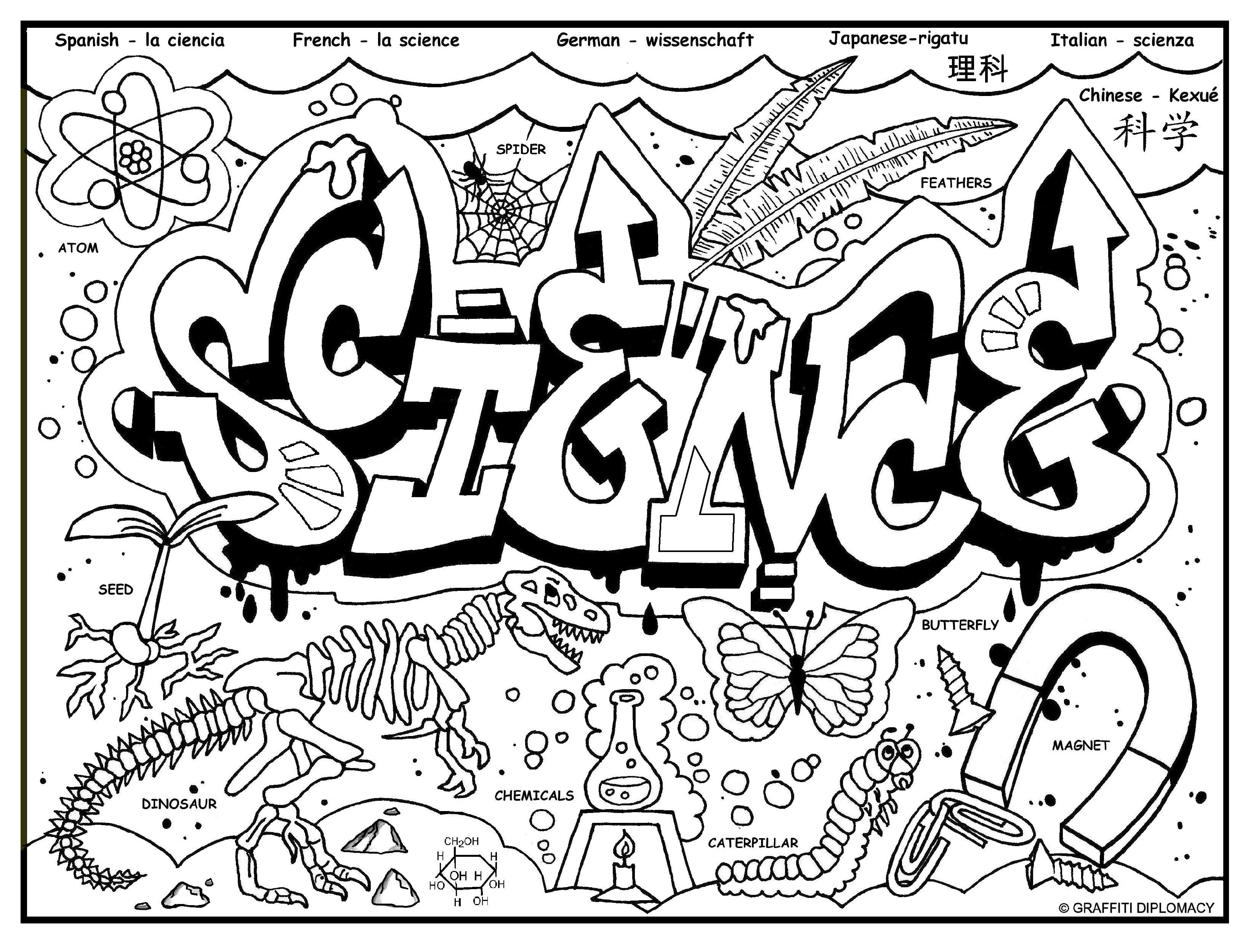 science coloring page free coloring page for kids science notebook cover science page coloring