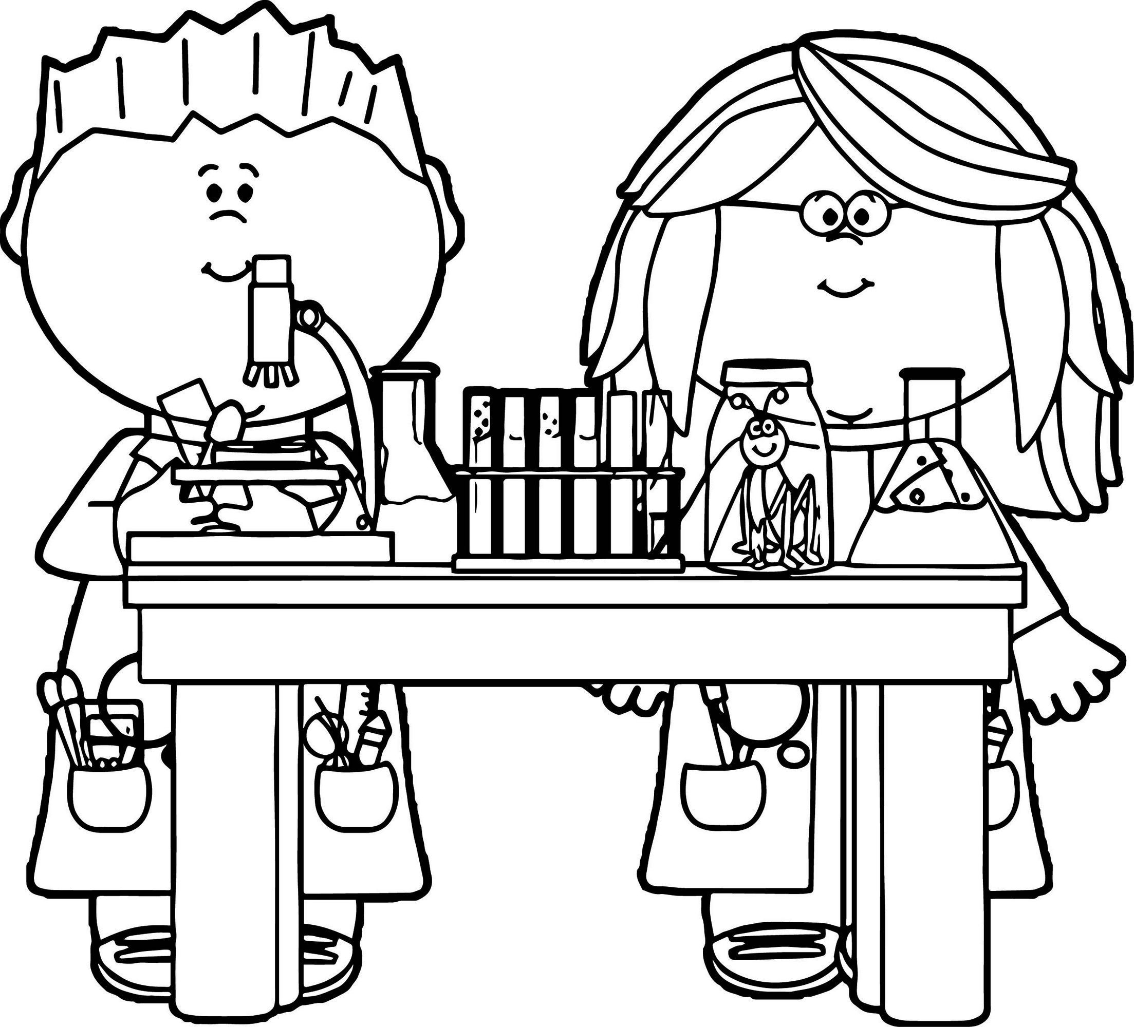 science themed coloring pages kids in science class coloring page printable profession science coloring pages themed