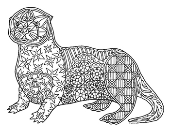 sea otter coloring page otter coloring pages kidsuki sea otter coloring page