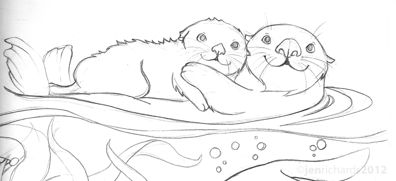 sea otter coloring page sea ottter with baby coloring page free printable sea page otter coloring
