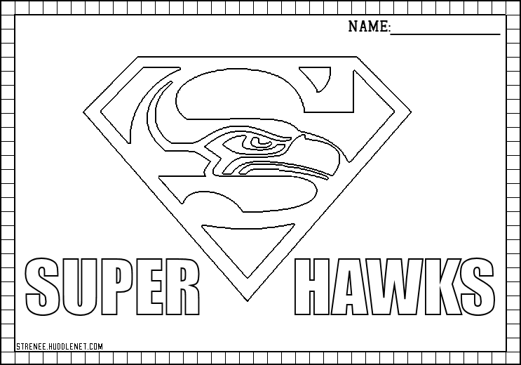 seahawks coloring page seattle seahawks drawing at getdrawingscom free for seahawks coloring page