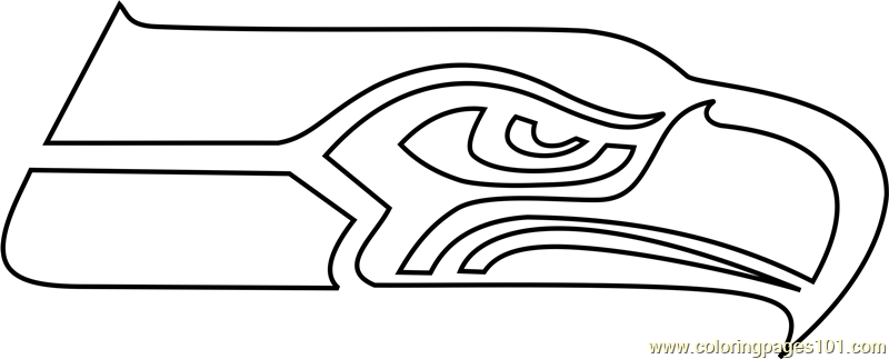 seahawks coloring page seattle seahawks logo coloring page free nfl coloring page seahawks coloring