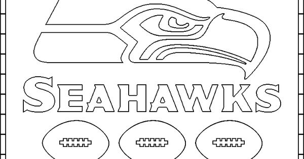 seahawks coloring page seattle seahawks logo coloring page free printable page coloring seahawks