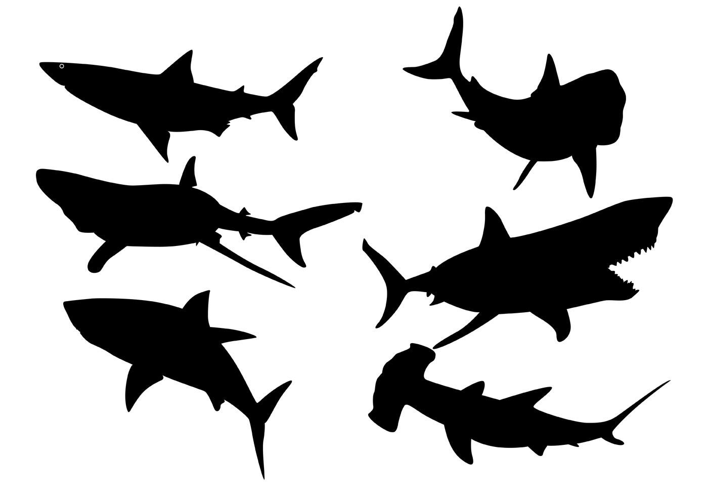 shark silouette fish vector silhouette archives sv stock blog silouette shark