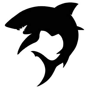 shark silouette great white shark silhouette at getdrawingscom free for silouette shark 1 1