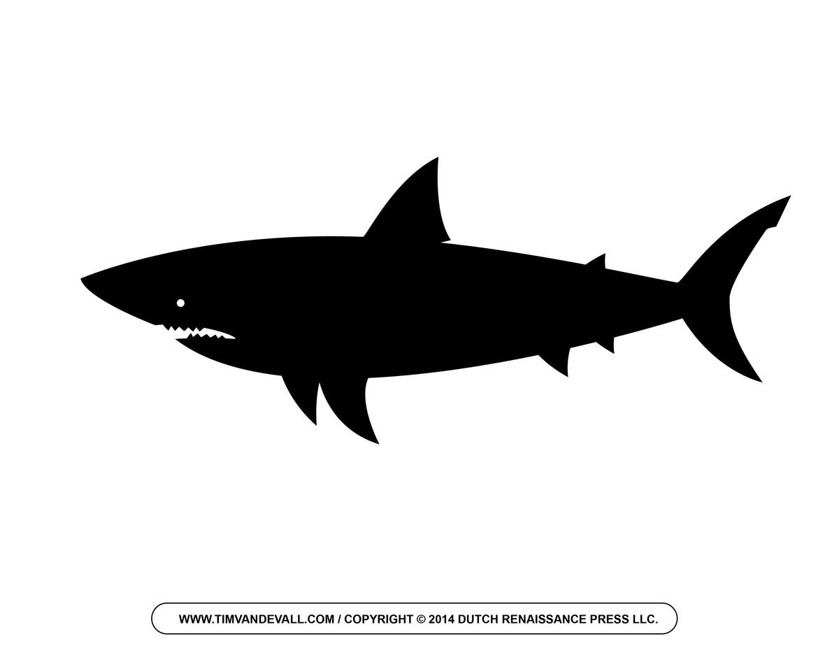 shark silouette shark pencil case back to school fun silouette shark