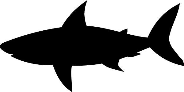shark silouette silhouette drawing outline free image on pixabay silouette shark