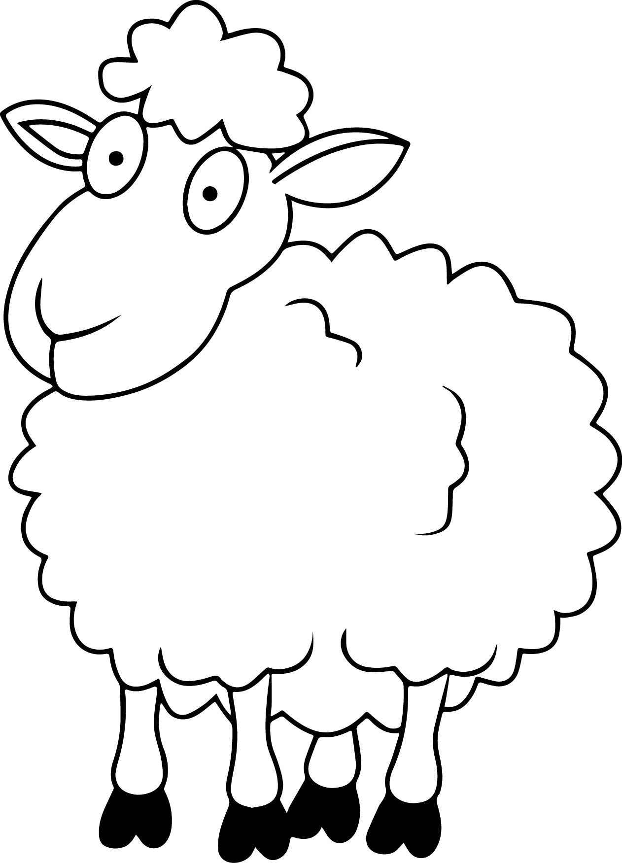 sheep coloring pages to print sheep outline coloring page coloring home coloring sheep pages print to