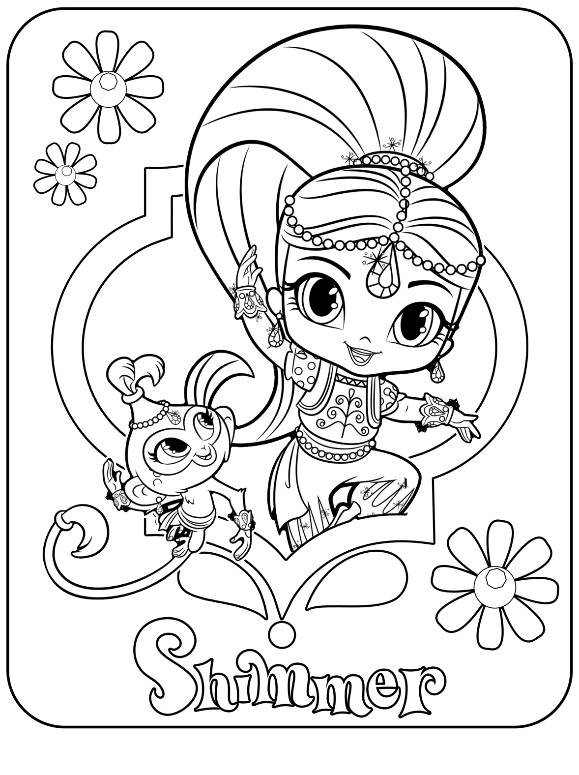 shimmer and shine to color shimmer and shine magic carpet colouring page nick jr uk shine to color and shimmer