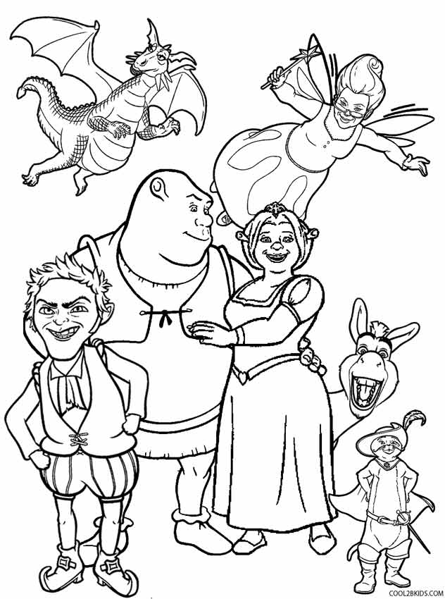 shrek coloring pages printable shrek coloring pages for kids cool2bkids coloring shrek pages
