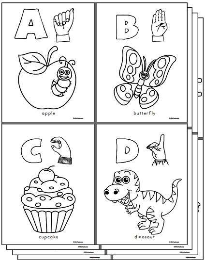 sign language coloring sheets abc sign and color a beginner39s book of american sign sign language coloring sheets
