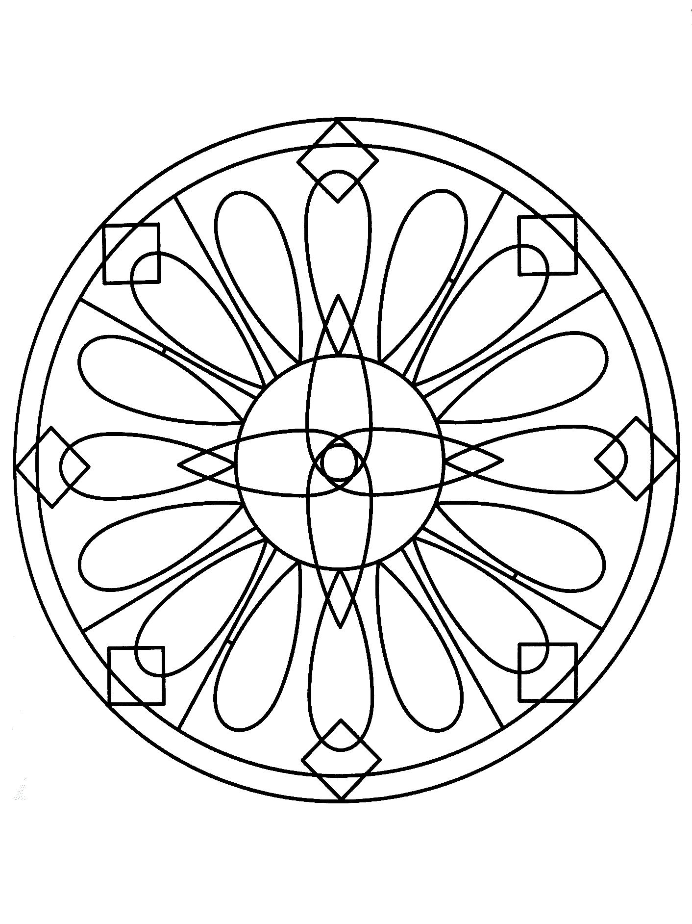 simple mandalas download simple flower mandala coloring pages or print mandalas simple