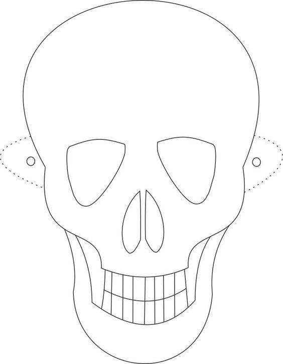 skeleton mask printable early play templates halloween skull masks mask printable skeleton