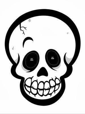 skeleton mask printable early play templates halloween skull masks printable skeleton mask