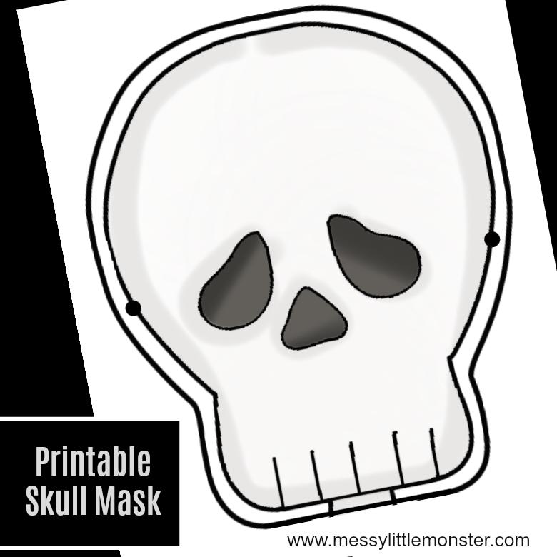 skeleton mask printable printable halloween masks festival collections skeleton printable mask