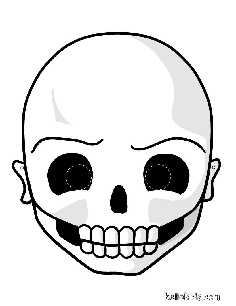 skeleton mask printable printable halloween masks skull mask skeleton mask printable