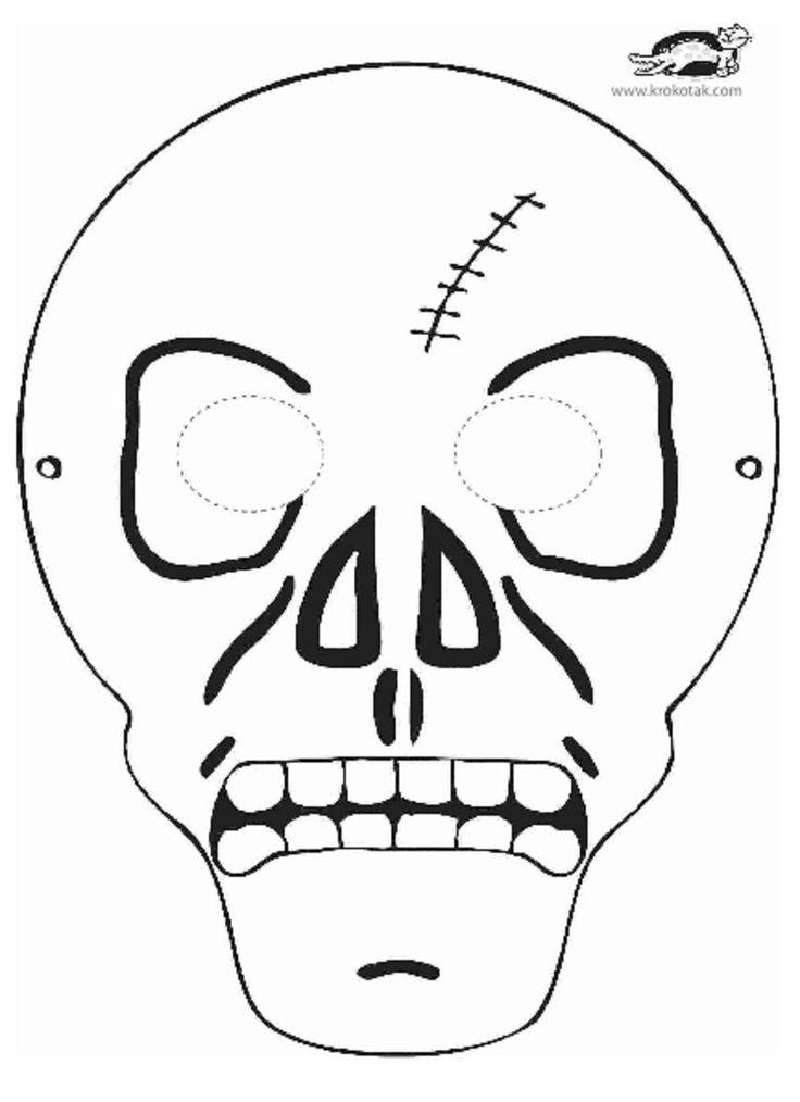 skeleton mask printable printable skeleton mask printable masks for kids printable skeleton mask