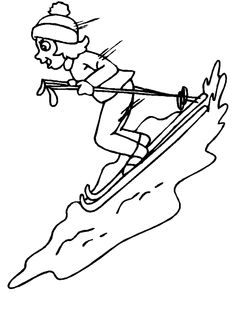 skiing coloring pages 17 best winter sports images in 2015 sports coloring coloring pages skiing