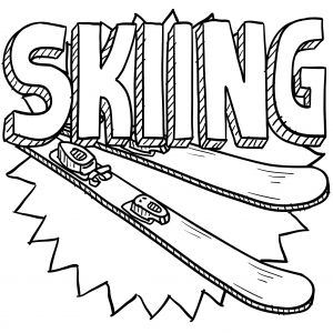 skiing coloring pages 25 best images about sports coloring pages on pinterest skiing pages coloring