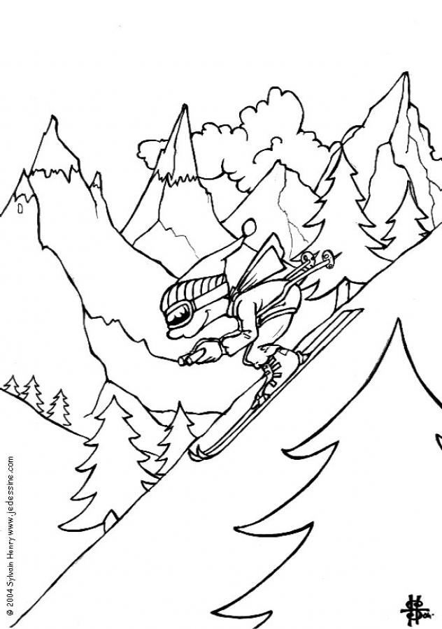 skiing coloring pages boy skiing coloring pages hellokidscom skiing coloring pages