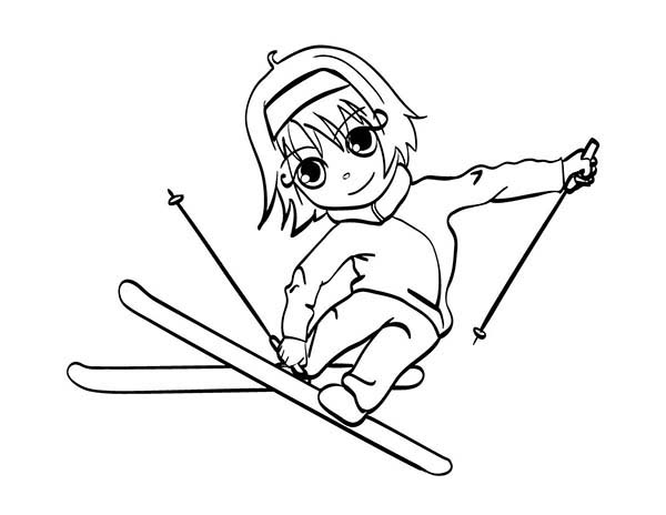 skiing coloring pages little girl skiing coloring page coloring sky pages skiing coloring