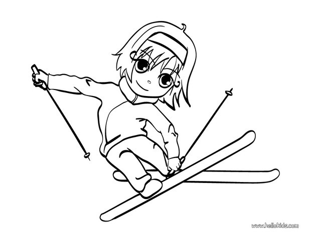 skiing coloring pages skiing girl coloring pages hellokidscom skiing pages coloring