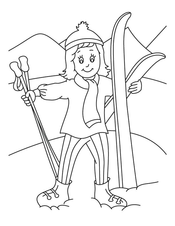 skiing coloring pages snowman is skiing coloring page free printable coloring skiing pages coloring