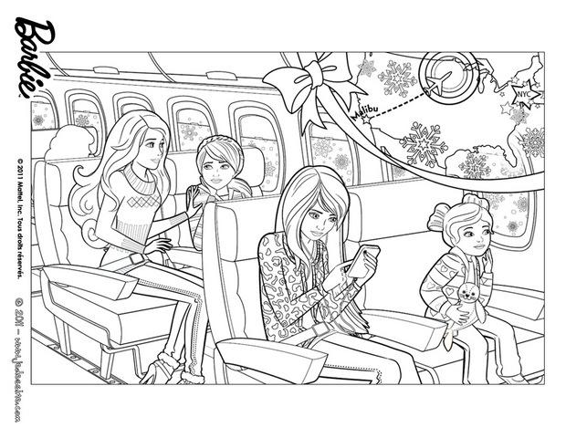 skipper coloring pages coloriages coloriage de barbie dans l39avion frhellokidscom coloring skipper pages
