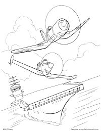 skipper coloring pages ripslinger surpass dusty on the race in disney planes coloring pages skipper