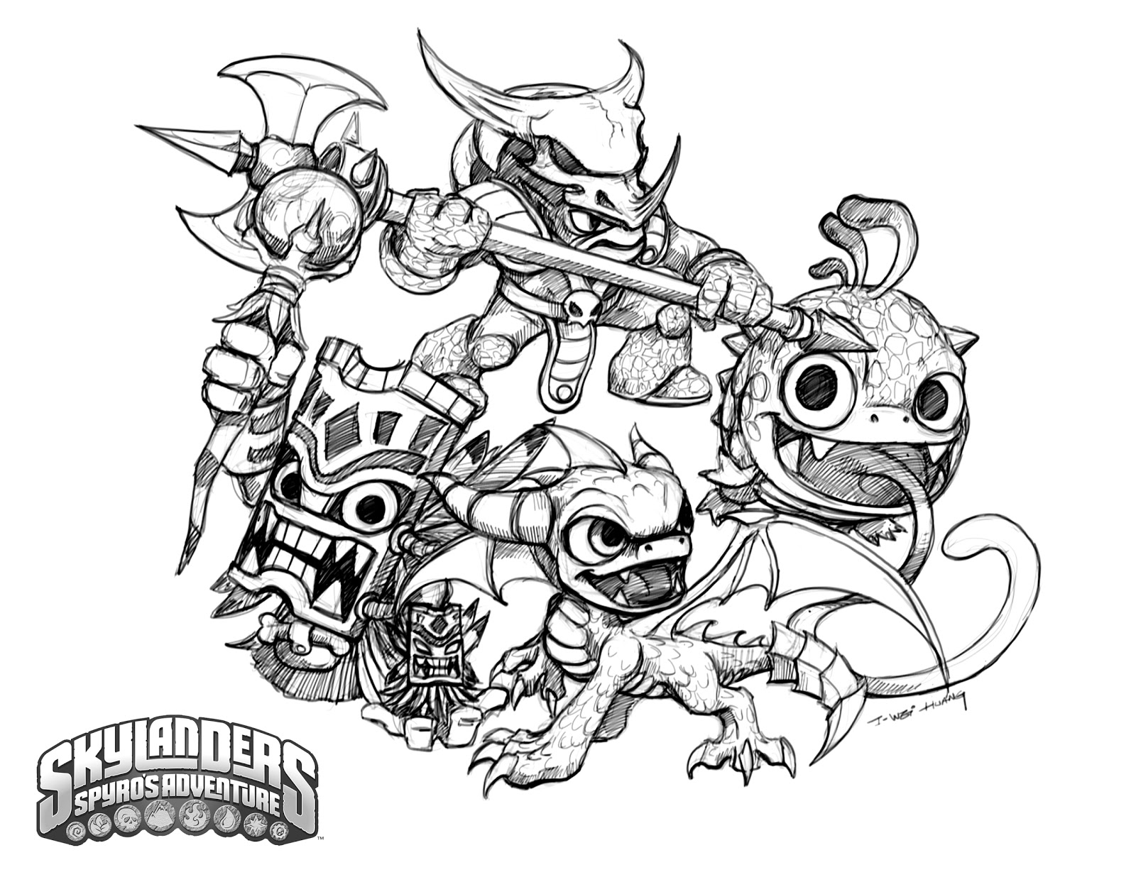 skylanders colouring pages online printable skylander giants coloring pages for kids skylanders colouring online pages
